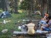 Campsite in the wilderness