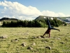 Doing cartwheels of joy at lofty heights in the Rawah Wilderness