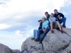 Friends gathered for fun on the mountaintop
