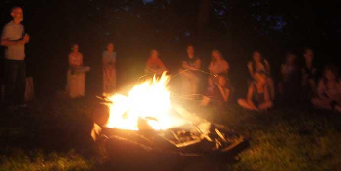 Campfire at Camp Appanoose